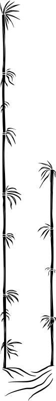 POLEAR Leuchte Bambus A 80 cm