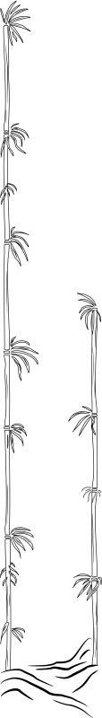 POLEAR Leuchte Bambus B 80 cm