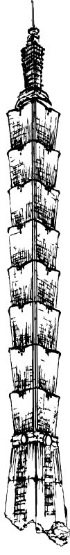 POLEAR Leuchte Modell Taipei Tower 80 cm